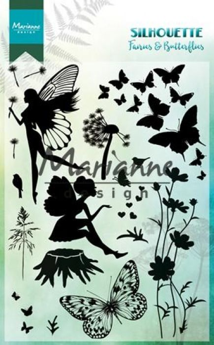 Marianne D Clear Stamps Silhouette Elfen & vlinders CS1016 150mmx115 mm