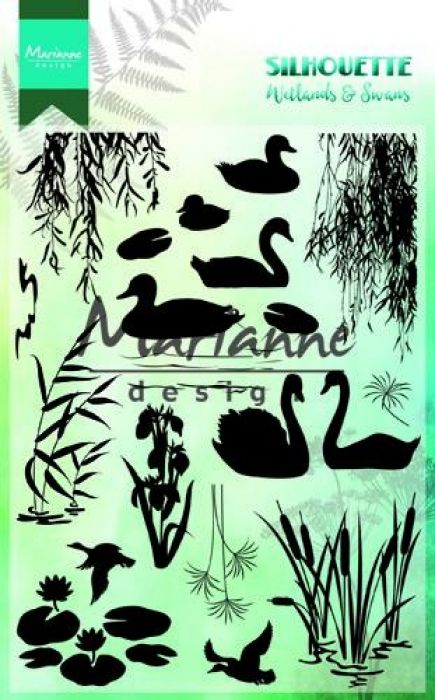 Marianne D Clear Stamps Silhouette Wetlands CS1017 150mmx115 mm