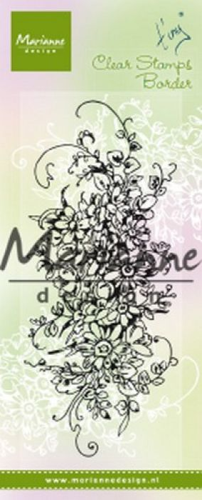 Marianne D Clear Stamps Tiny`s border - Boeket TC0872 132x57mm