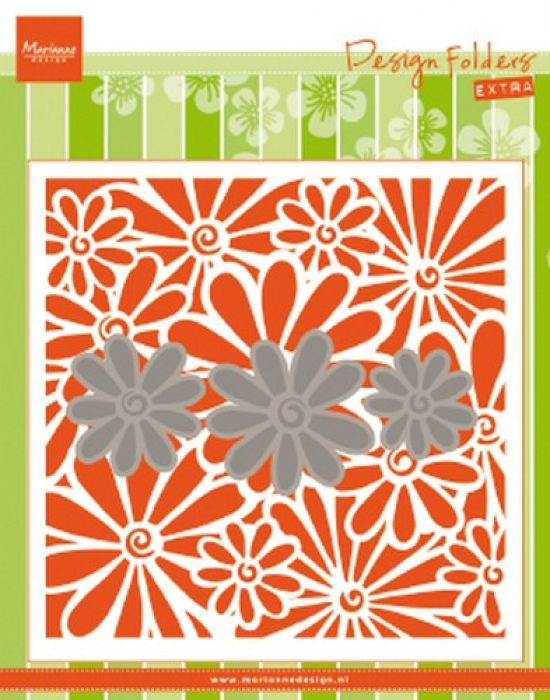 Marianne D Embossing folder Extra madeliefjes DF3451 152x154mm
