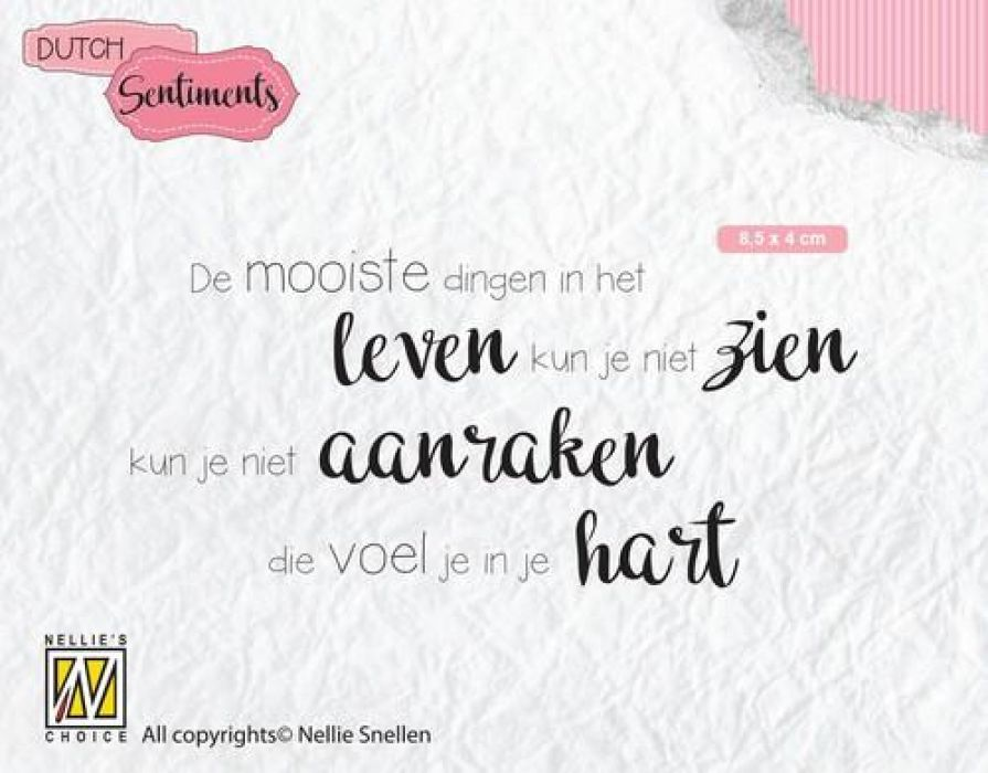 Nellies Choice Clearstempel Sentiments - De mooiste dingen (NL) SENC013 85x40mm