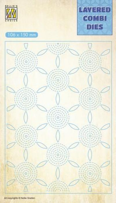 Nellie`s Choice Layered Combi Die bloem laag C LCDF003 106x150mm