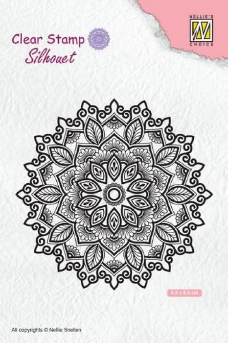 Nellie`s Choice Silhouette Clear Stamps Mandala 4 SIL043 85x85mm