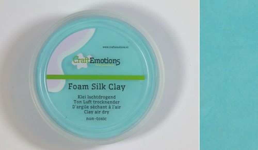 Silk foam clay - lichtblauw 28gr Air dry