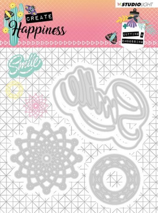 Studio Light Embossing Die 104x101 mm Create Happiness nr.157