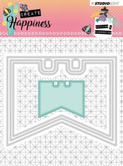 Studio Light Embossing Die 104x85 mm Create Happiness nr.154