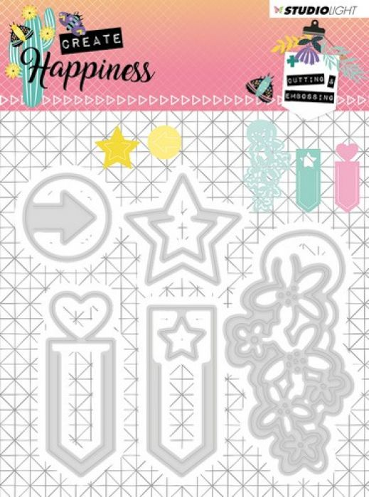 Studio Light Embossing Die 104x95 mm Create Happiness nr.155