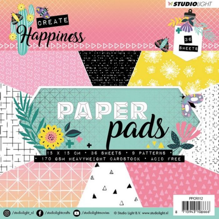 Studio Light Embossing Die 104x97 mm Create Happiness nr.153