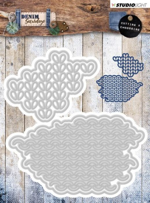 Studio Light Embossing Die 106x110mm, Denim Saturdays nr 135