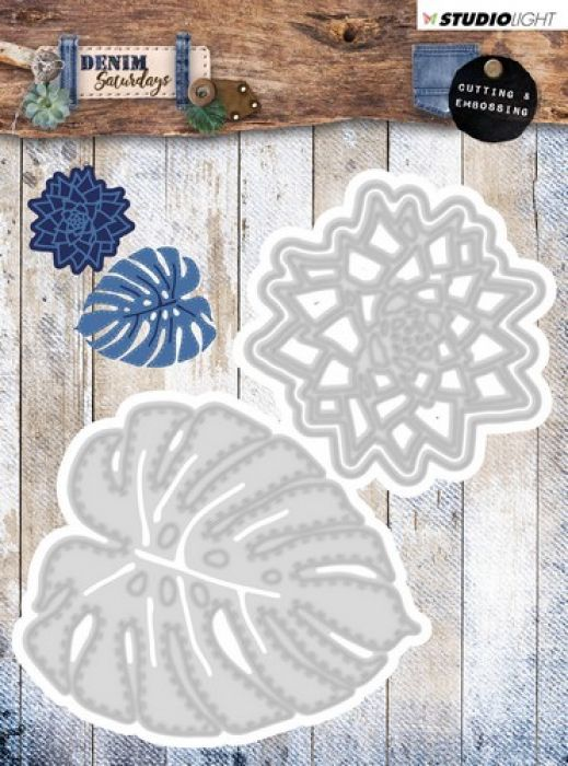 Studio Light Embossing Die 106x113mm, Denim Saturdays nr 134