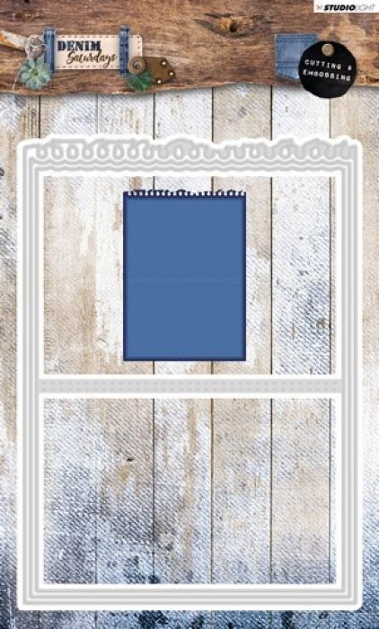 Studio Light Embossing Die 142x197mm, Denim Saturdays nr 141