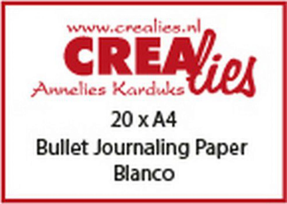 Crealies Basis A4 bullet journaling paper blanco (20x) CLBS107 A4