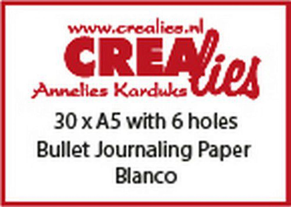 Crealies Basis A5 bullet journaling paper blanco 150 grm (30x) CLBS207 A5 with 6 holes