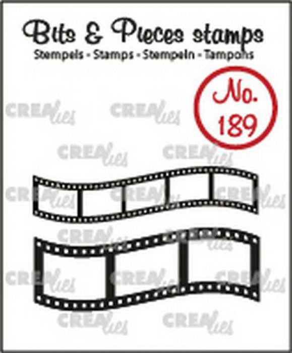 Crealies Clearstamp Bits & Pieces Gebogen filmstrips CLBP189 11x43mm - 16x43mm (
