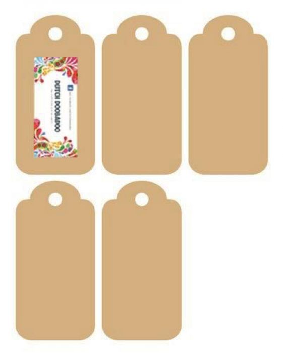 Dutch Doobadoo MDF labels 5x