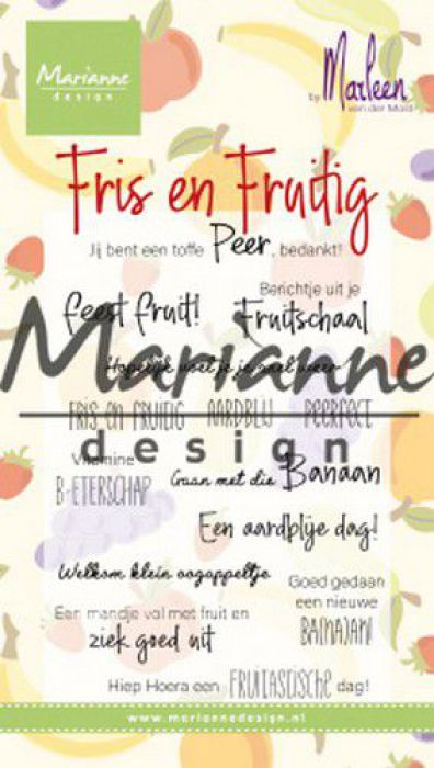 Marianne D Clear Stamps Marleen's Fris & Fruitig (NL) CS1030 2x118mm
