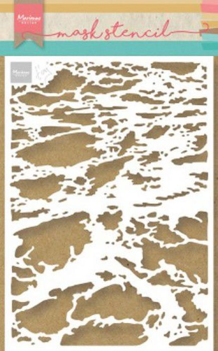 Marianne D Stencil Tiny's plons-splash PS8033 149x149 mm