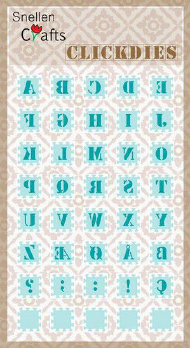 Nellie's Choice Clickdies alphabet-1 (Capitals) SCCD001 15x15mm