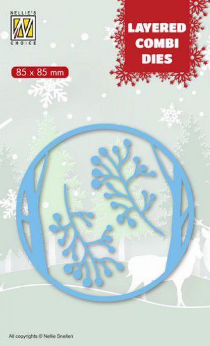 Nellies Choice Layered Combi Die Kerst herten (Layer A) LCDCD001 85x85mm