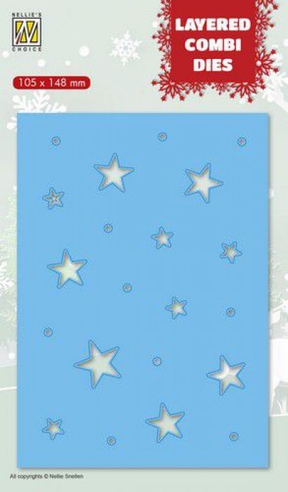 Nellies Choice Layered Combi Die Kerststerren (Layer C) LCDCS003 105x148 mm