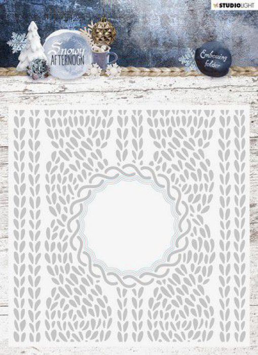 Studio Light Embossing Folder With Die Cut, Snowy Afternoon nr.01