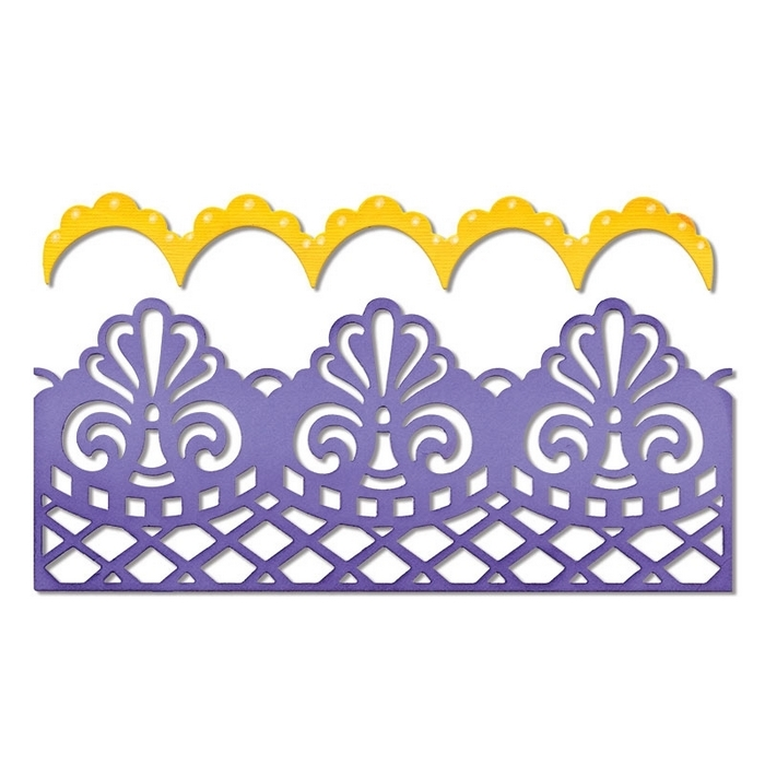 Thinlits Dies Damask & Scallop Borders