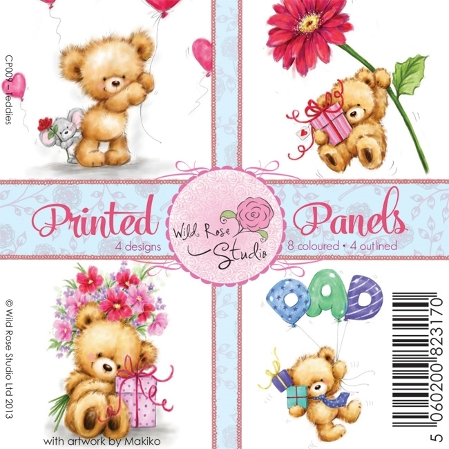 Printed Panels Teddies A 12 Vl