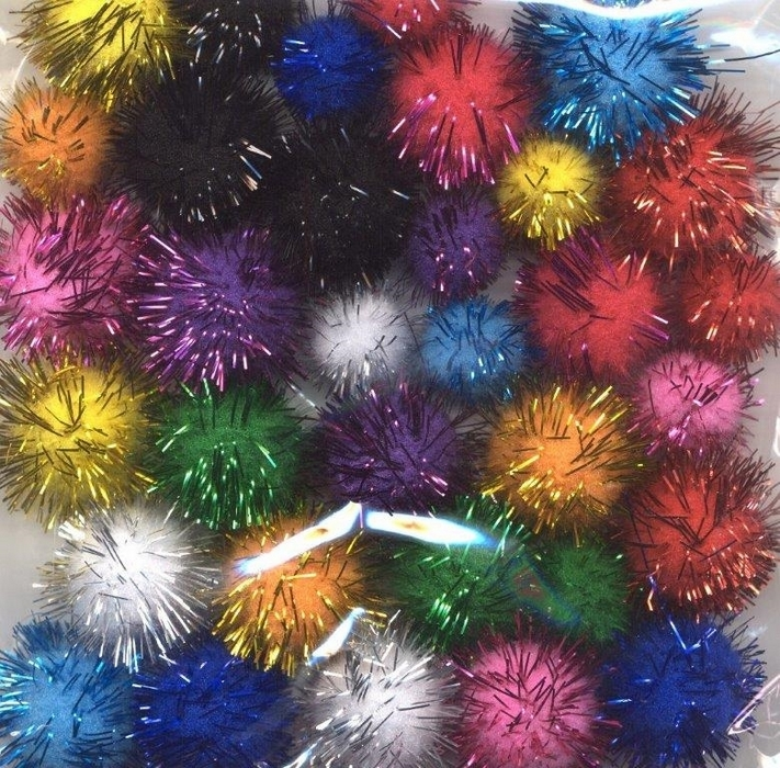 Mix Pompom Set Assortiment Incl Glitter 33 St
