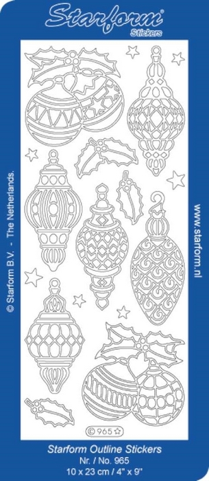 1 Pk (10 Vl) Stickers Christmas Baubles 1