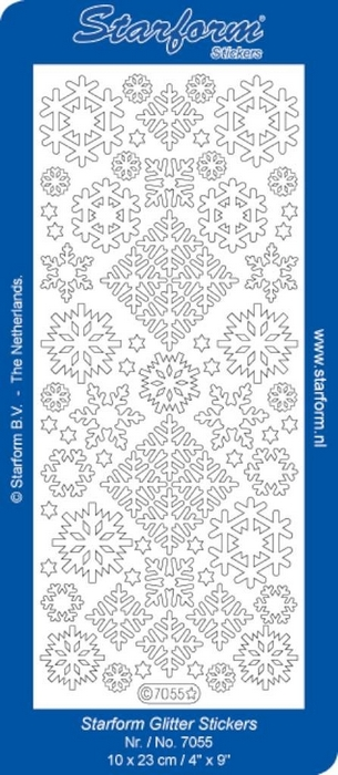 Stickers Christmas Ice Crystals 2 glitter zilver goud