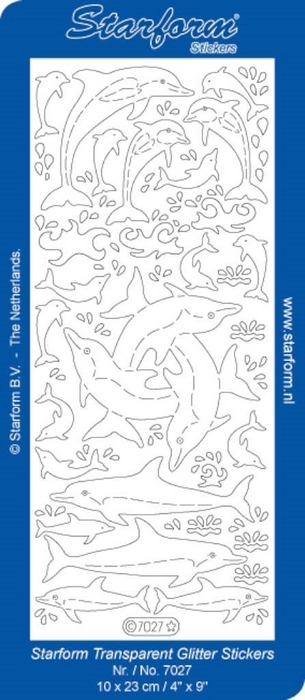 Stickers Maritime: Dolphins zilver