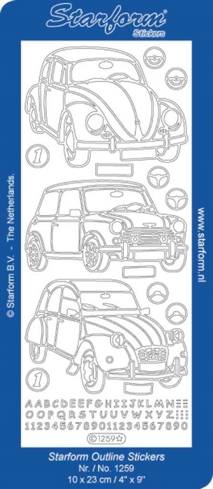 Stickers Classic Cars goud