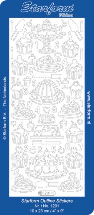 Stickers Pastries | Cupcakes zilver