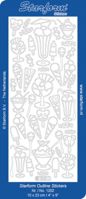 Stickers Ice Cream zilver