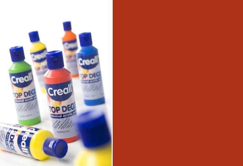 Top-deco - Acrylverf Roestrood 80 Ml