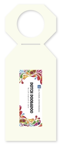 Dutch Doobadoo Dutch Shape stencil fleshanger label