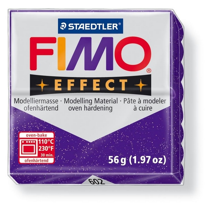 Fimo Effect Glitter Paars 56gr