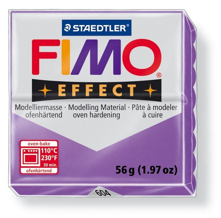 Fimo Effect Translucent Paars 56gr